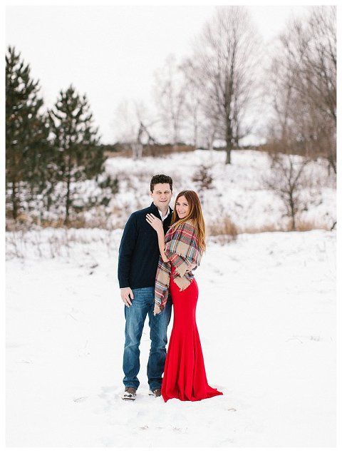 Red Dress Wisconsin Engagement Photographer 5259
