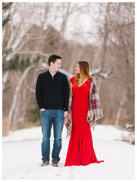 Red Dress Wisconsin Engagement Photographer 5298