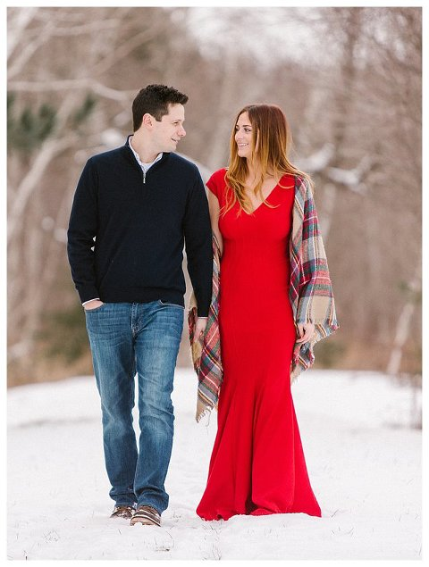 Red Dress Wisconsin Engagement Photographer 5300